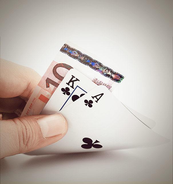 Spela casino med pengar