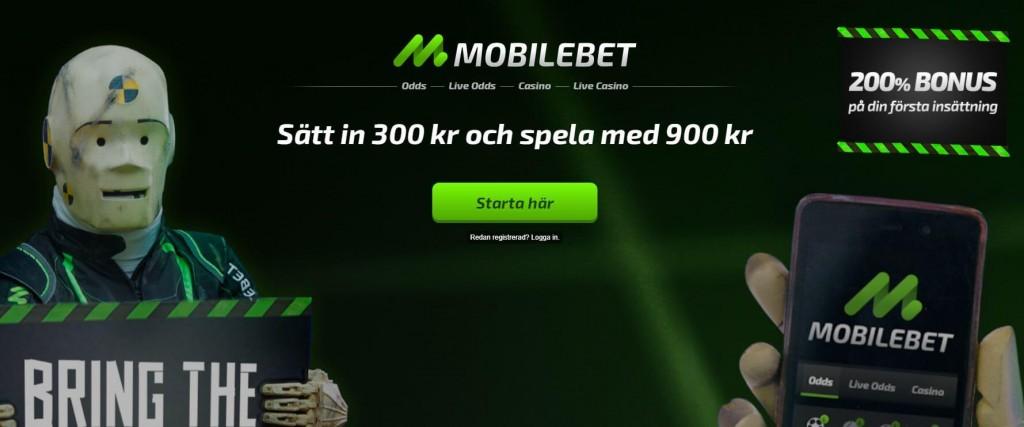 Mobilebet startsida